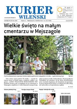 Wielkie święto na małym cmentarzu w Mejszagole