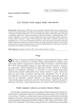 Czy Andrzej Duda wygrał dzięki internetowi?