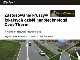 Zastosowanie kruszyw lokalnych dzięki nanotechnologii