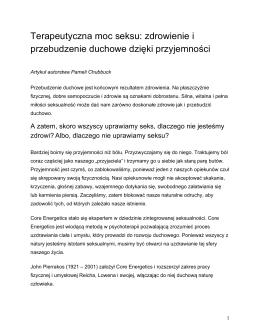 Pobierz Artykuł  - Core Energetics Polska