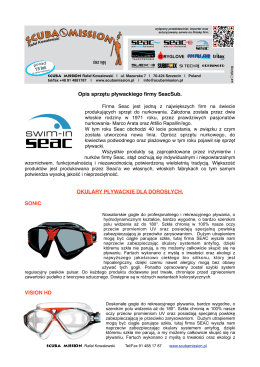 opisy sprzętu pływackiego -plik pdf do pobrania