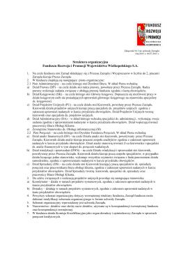 Struktura organizacyjna - Fundusz Rozwoju i Promocji