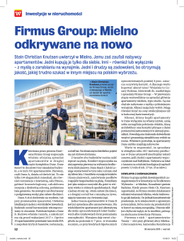Firmus Group: Mielno odkrywane na nowo