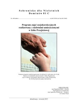 Program zajęć socjokorekcyjnych realizowany z nieletnimi