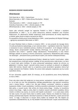 biografia rodziny kwarciaków - Gimnazjum Samorządowe nr 2 w