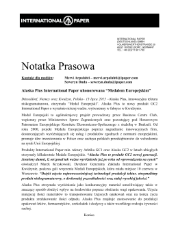 Notatka Prasowa 07 2015 - Medal Europejski