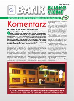 Numer 1/2015 - Bank Spółdzielczy Ziemi Kaliskiej