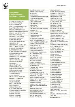 23 marca 2015 r. Salony EMPIK, w których dostępne są produkty z
