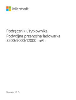 Podręcznik użytkownika Podwójna przenośna ładowarka