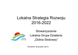 Lokalna Strategia Rozwoju 2016-2022