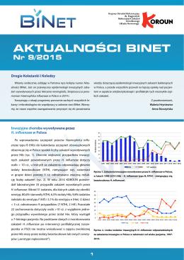 AKTUALNOŚCI BINET Nr 9 / wrzesień 2015