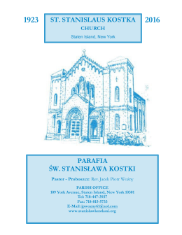 31 Stycznia 2016 - St. Stanislaus Kostka Parish
