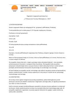 regulamin turnieju - Stowarzyszenie Brzask
