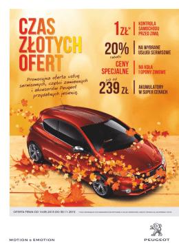 Gazetka Jesien 2015 Peugeot