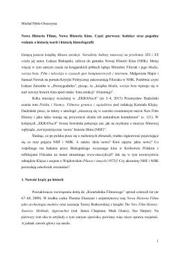 1 Michał Pabiś-Orzeszyna Nowa Historia Filmu, Nowa