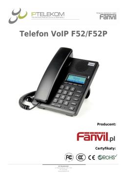 Telefon VoIP F52/F52P