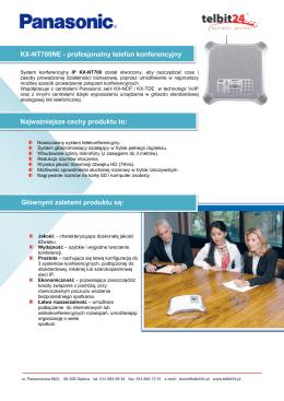 KX-NT700NE - profesjonalny telefon konferencyjny