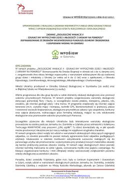 Sprawozdanie -Wypoczynek dzieci z Ukrainy na Pomorzu 2015