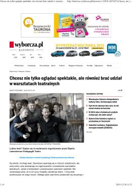 Gazeta Wyborcza o ŚLPT