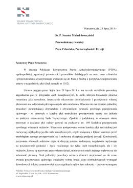stanowisko PTPA ws. ustawy o uzgodnieniu płci