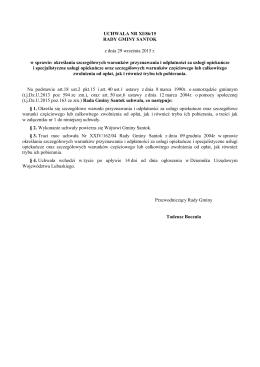 Uchwała Nr XI/86/15 z dnia 29 września 2015 r.