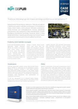 Case study: Andrychowska Fabryka Maszyn DEFUM S.A.