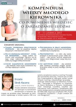 Szczegóły szkolenia Kompendium wiedzy