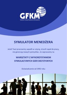 Symulator Menedżera - Gdańska Fundacja kształcenia Menadżerów