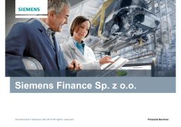 Siemens Finance Sp. z o.o.