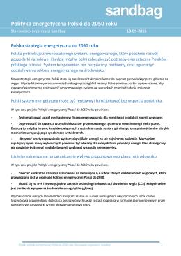 Polska strategia energetyczna do 2050 roku