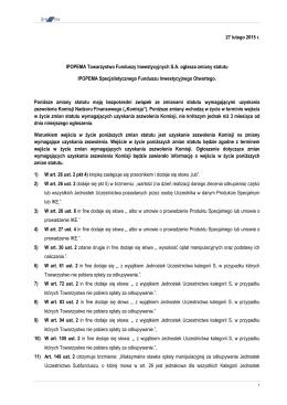ogłoszenie o zmianie statutu 2015_02_27