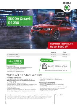 Cennik - Octavia RS 230