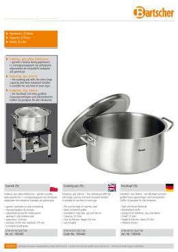Garnek 25L Nr art. 100440 Cooking pot 25L Code
