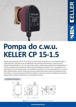 Pompa do c.w.u. KELLER CP 15-1.5