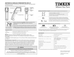 Instrukcja obsługI termometru Irg121