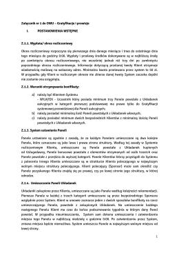 1 Załącznik nr 1 do OWU – Gratyfikacje i prowizje I