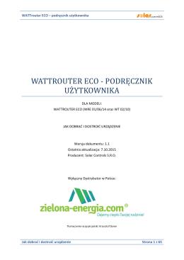 WATTrouter ECO – podręcznik użytkownika