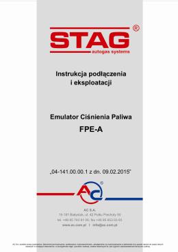 Instrukcja podłączenia i eksploatacji Emulator Ciśnienia Paliwa FPE-A