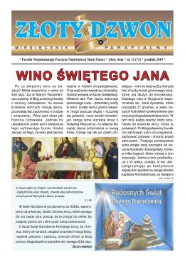 Wino śWiętego Jana - Parafia Rzymskokatolicka pw Niepokalanego