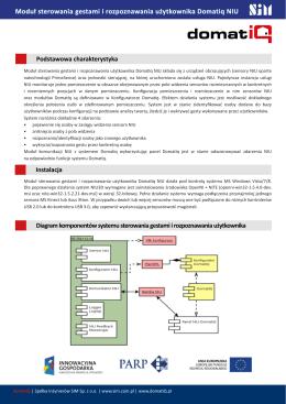 Moduł sterowania gestami i rozpoznawania użytkownika Domatiq NIU