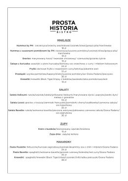 Pobierz menu - Prosta Historia