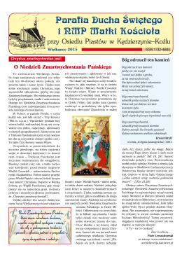 Wielkanoc 2015 - Oficjalna Strona Parafii pw Ducha Świętego i NMP