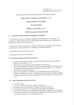 I. - Szpital Szczecinek Sp. z oo