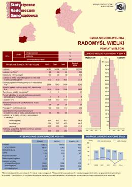 RADOMYŚL WIELKI - Urząd Statystyczny w Rzeszowie