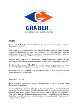 Firma GRA.BER od 35 lat dostarcza klientom akcesoria dla