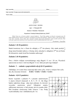 Złota Żaba - Matematyka - etap I - 2015/16