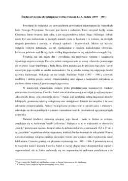 Środki uświęcenia chrześcijanina według wskazań ks. S. Sudoła