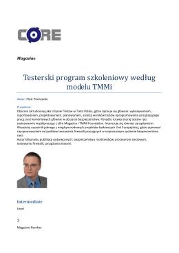 Testerski program szkoleniowy według modelu TMMi