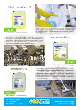 Apesin Combi Dr 5L Superclean 10L Pulsar Lemon Care