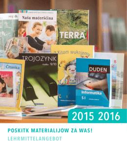 Poskitk materialijow 2015/2016 - WITAJ